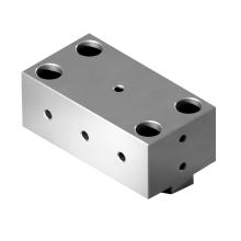 disipador de calor mecanizado cnc perforación piezas fresadas de aluminio