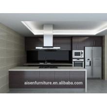 Современный кухонный шкаф из натурального дерева
