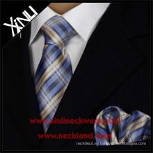 Corbata tejida de seda de los hombres y pañuelo de bolsillo
