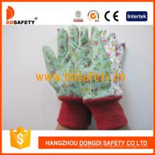 Садовые перчатки с цветок хлопка Dgs304