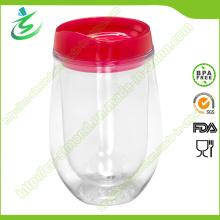 300 Ml Рекламный U Shaped Wine Plastic Tumbler
