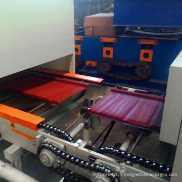 Carreaux antiques de tuile de revêtement en pierre de zinc émaillé couleur enduit en acier glacé faisant la machine