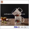 Good quality 450ml double color glaze ceramic mug