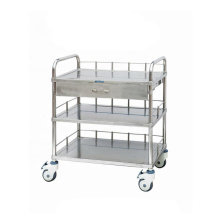 New Style Medical Appliances 304 Stainless Steel Surgical Instrument Trolley