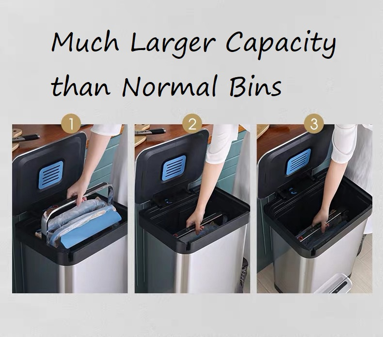 Large Capacity Rubbish Bin