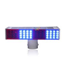 Luz estroboscópica de señal de tráfico LED con flash solar integrado