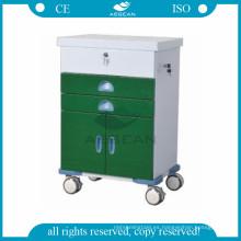 AG-GS004 CE sala de sala de sala de sala de equipo médico sala de recubrimiento en polvo carretilla médica para pacientes con ruedas