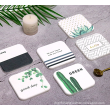 Eco-friendly Customized Diatomite Cup Coaster
