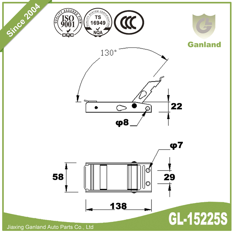 CURTAIN SIDED VEHICLE LASHINGS GL-15225S-1