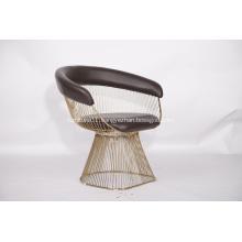 Leather Warren Platner Armchair