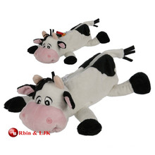 custom promotional lovely plush cow pencil case