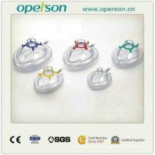 Máscara anestésica de PVC desechable con seis especificaciones (OS7034)