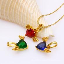 31608 colgante dorado elegante de la joyería de las mujeres de la manera con CZ sintético