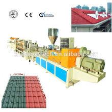 Ligne de haute qualité d'extrusion de tuile de toit de PVC / tuile de toit en plastique de PVC faisant la machine