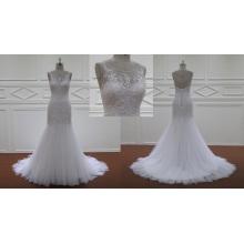 Многоуровневое Ruched Белый Кружева Свадебные Платья 2016
