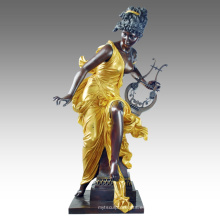 Estatua grande Estatua Decoración de hadas Escultura de bronce Tpls-050