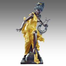 Large Figure Statue Fairy Decoration Bronze Sculpture Tpls-050