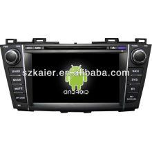 Reproductor de DVD del coche Android System para Mazda5 con GPS, Bluetooth, 3G, iPod, juegos, zona dual, control del volante