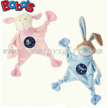 23cm Rosa Lamm-Plüsch-Baby-Tröster-Spielzeug Angefülltes blaues Kaninchen-Häschen-Baby Doudou