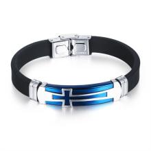 Fermoir personnalisable de bande de nom de bande Bracelet en caoutchouc de caoutchouc de Christian