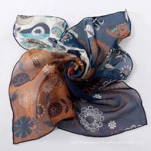 Quadrado imitar lenços de seda nova moda imitar seda cachecol quadrado pequeno