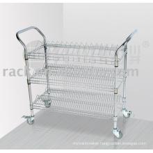 Movable Chrome Factory SMT Anti-Static Utility Trolley Cart (CJ-A1194)