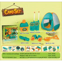 Boutique Playhouse Plastic Toy-Camping Set com barraca