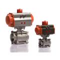 Dn25 Single agissant de robinet à boisseau sphérique 2 actionneur pneumatique moyen