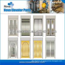 Standard Hairline painel de porta de elevador de aço inoxidável, porta de carro do elevador