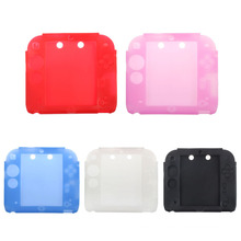 Tampa de capa de silicone de borracha macia e ultra fina para Nintendo para acessórios de 2DS Gel Shell de proteção