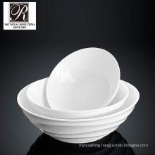 hotel ocean line fashion elegance white porcelain round bowl pt-t0613