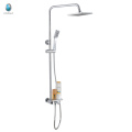 KH-07M hot sale golden bathroom accessories solid brass chrome finished with sunflower head shower bath fitting a mixer shower