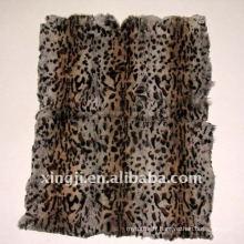 Teinture de tigre teint couleur européenne fourrure de lapin 55 * 115cm plaque de lapin