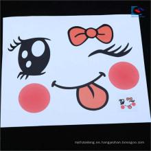 Impresión personalizada 3D de dibujos animados en forma de ojo de animal mira etiquetas y pegatinas para niños