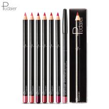 Pudaier Waterproof 6Pcs/Set Matte Lip Liner Pencil Set Pigment Lip Pen