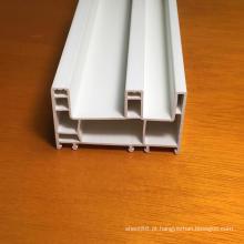 Perfis de PVC de três trilhas para janelas e portas