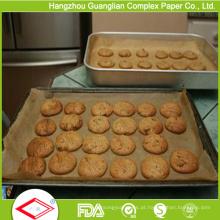 Panelas de panela de forno de papel antiaderente siliconizado de fábrica
