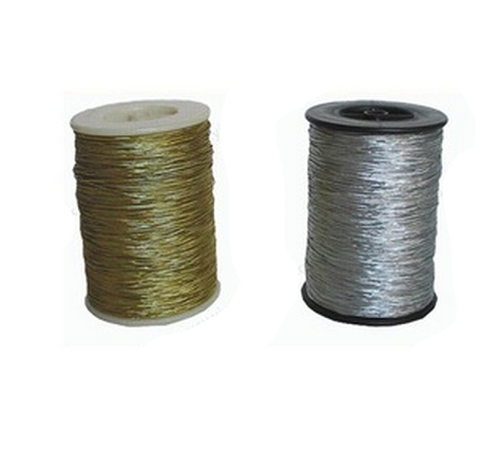 promotion silver metallic string