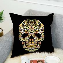 Cute skull customized print 18x18 canvas cushion cover