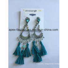 Ethnic Trend Earrings with Fabric