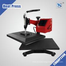 Swing away hot tshirt stamping transfer press machinery