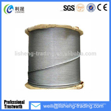 8x19 Cuerda de alambre de acero galvanizado de alta resistencia a la tracción