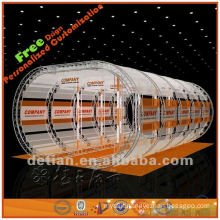 top roof advertising stand display in arch type for trade exhibition