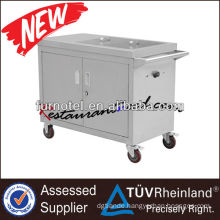 K395 Electric Mobile Bain Marie Portable Food Warmer With 2 Cabinet & Pans