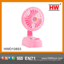 Plástico elétrico rosa brinquedo mini ventilador para crianças