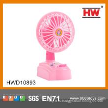 Электрический пластик розовый мини-вентилятор игрушка для детей