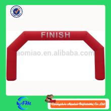 2015 arco inflável durável baratos para aluguer de alta qualidade cor vermelha arco inflável forma