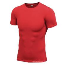 Multicolor Fitness & Sports Men Camisetas High Elastic Tight Short-Sleeve