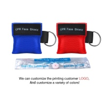 wholesale red small customize logo CPR mask keyring