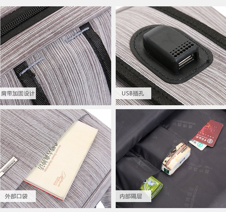 Wholesalenylon waterproof anti theft usb laptop backpack